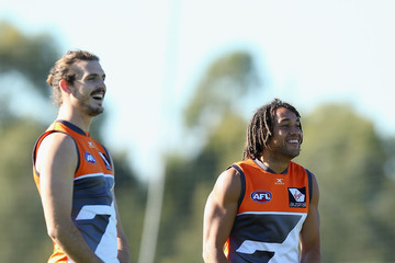 Phil Davis GWS Giants Training Session