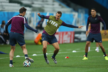 Phil Jagielka England Training Session
