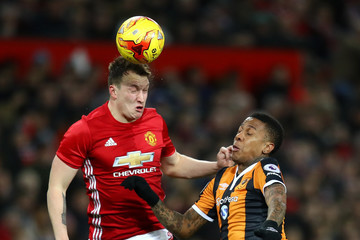 Phil Jones Manchester United v Hull City - EFL Cup Semi-Final: First Leg