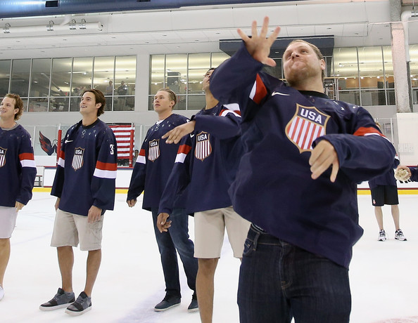 Phil Kessel Photos Photos - USA Hockey 2014 Olympic Press Conference ...