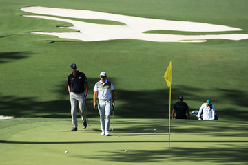 Phil Mickelson Rickie Fowler The Masters - Round One