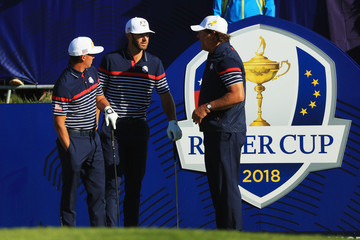 Phil Mickelson Rickie Fowler Previews - 42nd Ryder Cup 2018