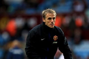 Phil Neville Aston Villa v Manchester United - Premier League