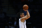 Jeremy Lin #7 of the Brooklyn Nets shoots against the Philadelphia 76ers during their Pre Season game at Nassau Veterans Memorial Coliseum on October 11, 2017 in Uniondale, New York.   NOTE TO USER: User expressly acknowledges and agrees that, by downloading and/or using this Photograph, user is consenting to the terms and conditions of the Getty Images License Agreement.