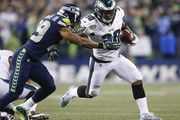 running back Corey Clement #30 of the Philadelphia Eagles rushes against free safety Earl Thomas #29 of the Seattle Seahawks in the second quarter at CenturyLink Field on December 3, 2017 in Seattle, Washington.