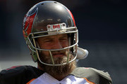 Ryan Fitzpatrick #14 of the Tampa Bay Buccaneers warms up during a game against the Philadelphia Eagles at Raymond James Stadium on September 16, 2018 in Tampa, Florida.