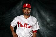 Andres Blanco #4 of the Philadelphia Phillies poses for a portrait during the Philadelphia Phillies photo day on February 20, 2017 at Spectrum Field in Clearwater,Florida.