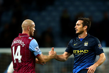 Philippe Senderos Aston Villa v Manchester City - Premier League