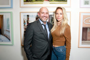Owner of De Re Gallery Steph Sebbag (L) and yoga expert Jesse Golden attend the Photo Femmes Exhibition Opening at De Re Gallery, featuring the work of Ashley Noelle, Bojana Novakovic and Monroe, at De Re Gallery on April 13, 2016 in West Hollywood, California.