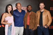 "Eiza Gonzalez, Vin Diesel, Lamorne Morris and Sam Heughan attend a photocall for Sony Pictures' ""Bloodshot"" at The London Hotel on March 06, 2020 in West Hollywood, California."