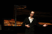Pianist James Rhodes speaks between playing Beethoven, Chopin and Bach on a Steinway grand piano at the Queen Elizabeth Hall at Southbank Center on November 26, 2011 in London, England. Rhodes is the first classical pianist to be signed by the rock driven label Warner Bros. Records.