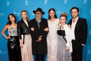 Lily Sullivan, Natalie Dormer, Dieter Kosslick, Lola Bessis, Emily Gruhl and Harrison Gilbertson attend the 'Picnic at Hanging Rock' premiere during the 68th Berlinale International Film Festival Berlin at Zoo Palast on February 19, 2018 in Berlin, Germany.