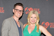 Musician Brian Gallagher (L) and actress Megan Hilty attend 'Piece of My Heart: The Bert Berns Story' opening night at The Pershing Square Signature Center on July 21, 2014 in New York City.