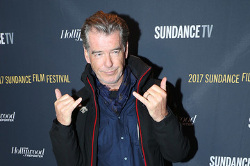 Pierce Brosnan SundanceTv and The Hollywood Reporter Festival Kick Off Party
