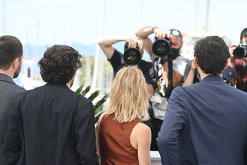 Pierre-Simon Gutman Romain Cogitore Camera D'Or Jury Photocall - The 74th Annual Cannes Film Festival