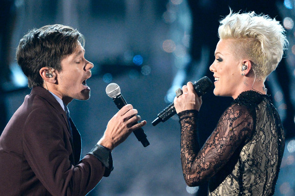 Pink and Nate Ruess Photos Photos - The 56th Grammy Awards ...