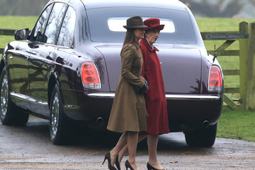 Pippa Middleton Members Of The Royal Family Attend St Mary Magdalene Church In Sandringham
