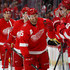 Niklas Kronwall Photos - Niklas Kronwall #55 of the Detroit Red Wings celebrates his first period goal with teammates while playing the Pittsburgh Penguins at Little Caesars Arena on March 27, 2018 in Detroit, Michigan. - Pittsburgh Penguins vs. Detroit Red Wings