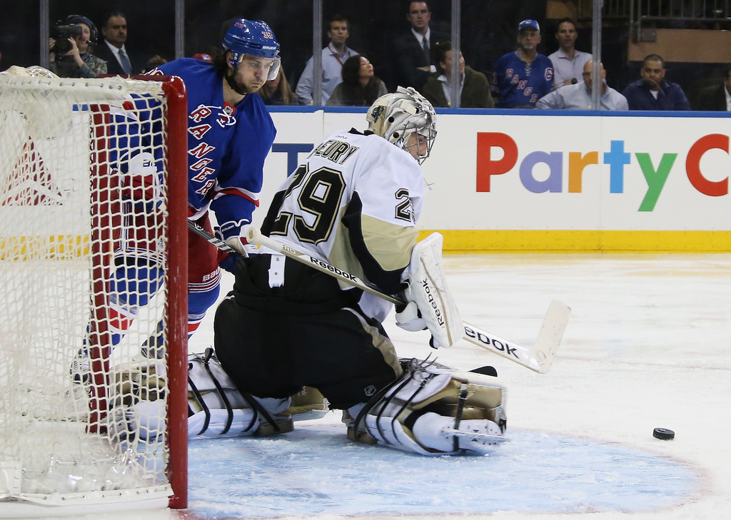 Marc-Andre Fleury in Pittsburgh Penguins v New York ...