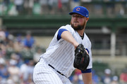 Jon Lester #34 of the Chicago Cubs pitches the ball in the first inning against the Pittsburgh Pirates at Wrigley Field on July 13, 2019 in Chicago, Illinois.