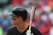 Justin Morneau #66 of the Pittsburgh Pirates at Rangers Ballpark in Arlington on September 11, 2013 in Arlington, Texas.