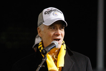 Art Rooney Pittsburgh Steelers Host Super Bowl XLV Pep Rally