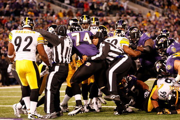 Michael Oher Michael Banks Pittsburgh Steelers v Baltimore Ravens