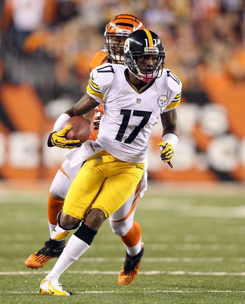 mike wallace pictures pittsburgh steelers v cincinnati