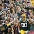 Jimmy Graham Photos - Jimmy Graham #80 of the Green Bay Packers celebrates a touchdown during the first quarter of a preseason game against the Pittsburgh Steelers at Lambeau Field on August 16, 2018 in Green Bay, Wisconsin. - Pittsburgh Steelers v Green Bay Packers