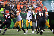 Ben Roethlisberger #7 of the Pittsburgh Steelers throws a pass during the fourth quarter of the game against the Cincinnati Bengals at Paul Brown Stadium on October 14, 2018 in Cincinnati, Ohio. Pittsburgh defeated Cincinnati 28-21.
