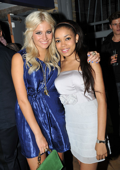 Pixie Lott Pixie Lott and Dionne Bromfield attend the Fumi and Fendi 'In Every Dream Home' - Private View on September 16, 2010 in London, England.