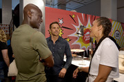 Peter Mensah, Dylan Bruce and Parisa Fitz-Henley from NBC's 'Midnight Texas' attend the Pizza Hut Lounge at 2018 Comic-Con International: San Diego at Andaz San Diego on July 21, 2018 in San Diego, California.
