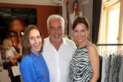 """(L-R) Annette Weber, Hans-Reiner Schroeder and Eva Lutz attend the """"Place To Be Private"""" event at Borchardt Restaurant on July 01, 2019 in Berlin, Germany."""