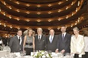 In this handout image provided by the Barcelona Opera House, Placido Domingo (C) attends an event to celebrate the 50th Anniversary of his debut at Liceu Barcelona on April 24, 2016 in Barcelona, Spain.