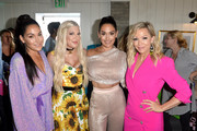 (L-R) Brie Bella, Tori Spelling, Nikki Bella, and Jennie Garth attend Planet Smoothie Backstage at 2019 Teen Choice Awards on August 11, 2019 in Hermosa Beach, California.