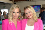 (L-R) Jennie Garth and Emily Osment attend Planet Smoothie Backstage at 2019 Teen Choice Awards on August 11, 2019 in Hermosa Beach, California.