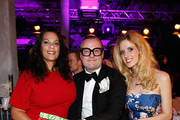 Isabel Celeste Dawson, Sebastian teNeues and Wilma Elles attend the Platform Fashion Selected show during the Platform Fashion February 2015 on February 1, 2015 in Duesseldorf, Germany.