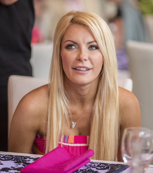 Crystal Harris attends Playboy's 2013 Playmate Of The Year luncheon