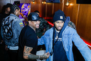 Allen Iverson and Trey Songz attend The Players' Tribune + Heir Jordan Host Players' Night Out At The Royale Party at Bounce Sporting Club in Chicago on February 13, 2020 in Chicago, Illinois.