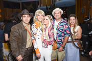 Eric Podwall; Darren Criss; Mia Swier, Max Adler and Jennifer Bronstein attend Podwall Entertainment's 9th Annual Halloween Party Presented By Makers Mark at The Peppermint Club on October 31, 2018 in Los Angeles, California.