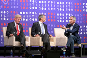 (L-R) Gov. Bill Weld, Gov. Mark Sanford and Rep. Joe Walsh speak onstage during the 2019 Politicon at Music City Center on October 26, 2019 in Nashville, Tennessee.
