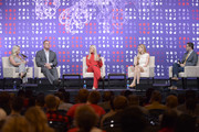 (L-R) Elisha Krauss, mayor Glenn Jacobs, Tomi Lahren, Ann Coulter and Guy Benson speak onstage during the 2019 Politicon at Music City Center on October 26, 2019 in Nashville, Tennessee.