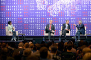(L-R) Jennifer Rubin, Gov. Bill Weld, Gov. Mark Sanford and Rep. Joe Walsh speak onstage during the 2019 Politicon at Music City Center on October 26, 2019 in Nashville, Tennessee.