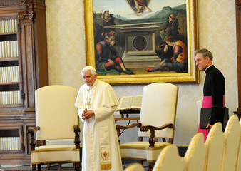 Benedict XVI Georg Ganswein Pope Benedict XVI Meets With Presidents Of Bulgaria And Macedonia