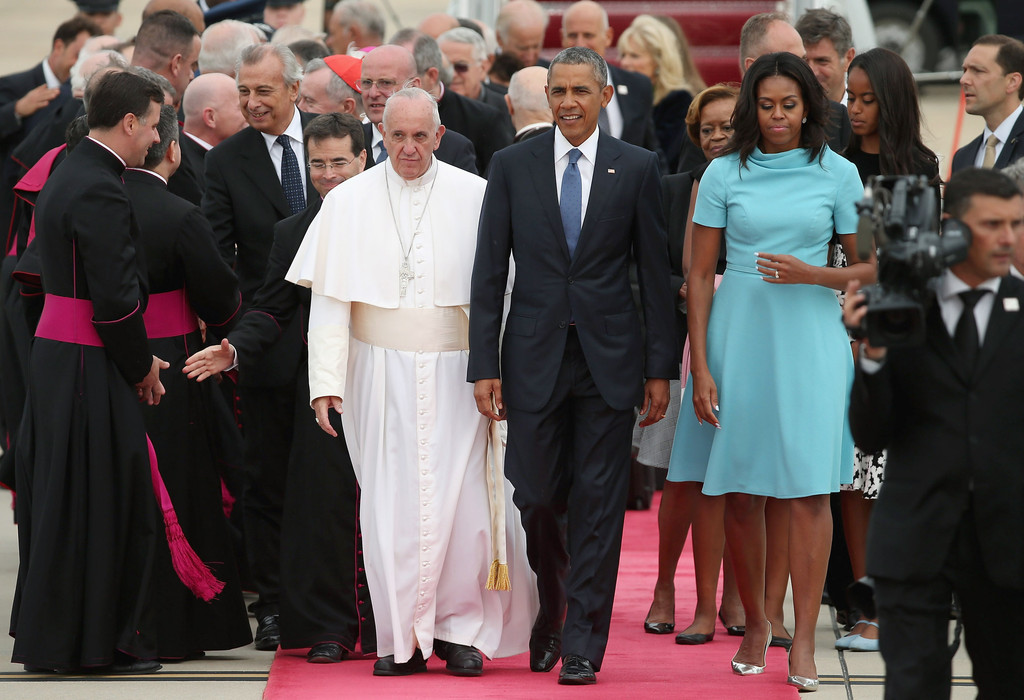michelle obama photos photos pope francis arrives from
