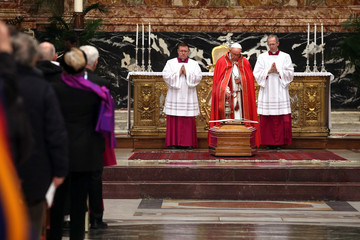 Pope Francis I Vatican Funeral for Disgraced US Cardinal Law