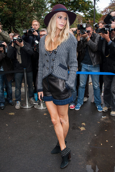 Poppy Delevingne - Chanel: Outside Arrivals - Paris Fashion Week Womenswear Spring / Summer 2013