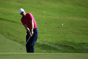 Ross Fisher of England plays his second shot on the 15th hole during Day One of the Portugal Masters at Dom Pedro Victoria Golf Course on September 20, 2018 in Albufeira, Portugal.