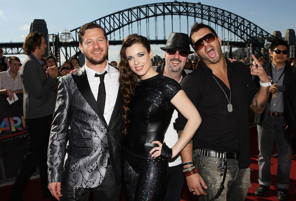 The Potbelleez The members of The Potbelleez arrive on the red carpet at the 2010 ARIA Awards at the Sydney Opera House on November 7, 2010 in Sydney, Australia.