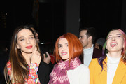 (L-R) Angela Sarafyan, Bella Thorne and Dani Thorne attend the Prabal Gurung front row during New York Fashion Week: The Shows at Gallery I at Spring Studios on February 10, 2019 in New York City.